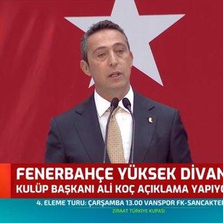 Ali Koç'tan Yüksek Divan Kurulu toplantısında hain FETÖ kumpası açıklaması
