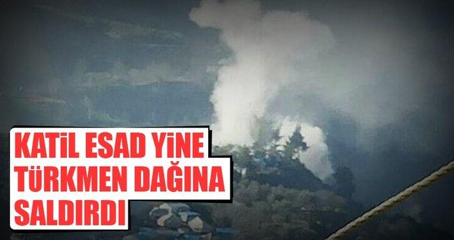 Katil Esad Türkmen Dağı'na saldırdı