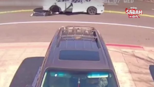 ABD'de soyguncular çantasını gasp ettikleri kadını arabayla metrelerce sürükledi | Video