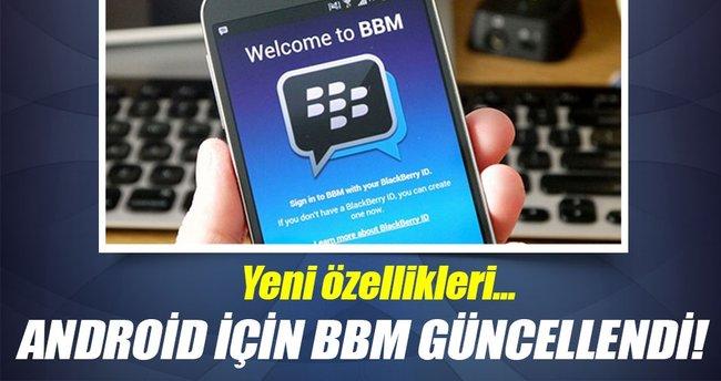 Android için BBM güncellendi!