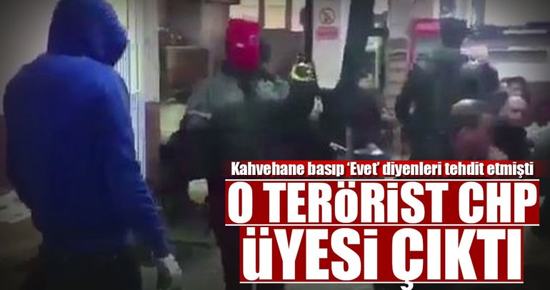O terörist CHP üyesi çıktı