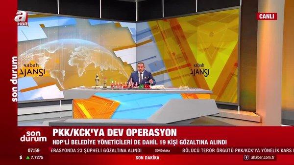 Son dakika:PKK/KCK'ya operasyon! AralarındaHDP'li yöneticiler de var | Video