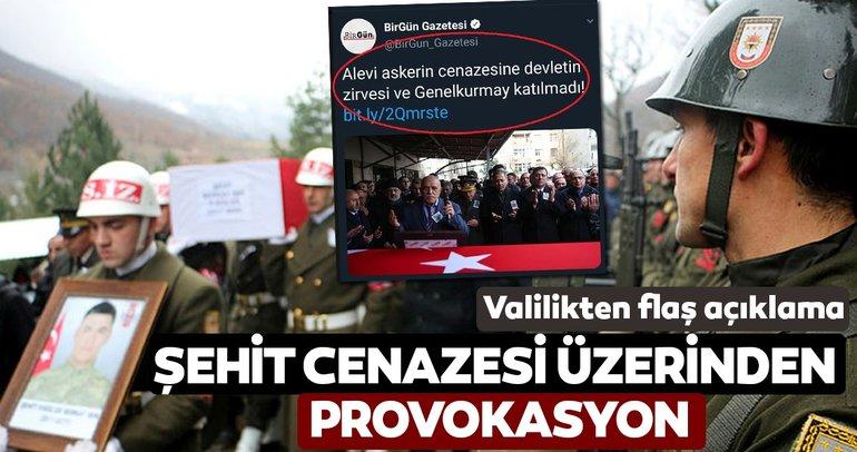 CHP yandaşı medyadan şehit cenazesi üzerinden provokasyon!