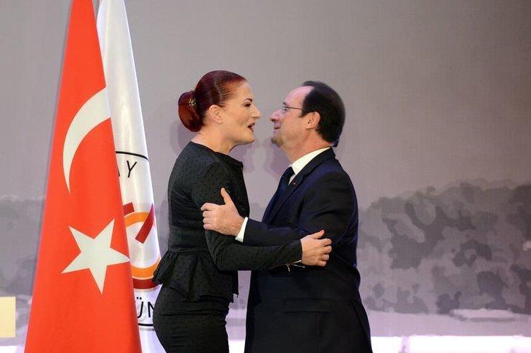 Hollande'dan Candan Erçetin'e edebiyat ve sanat nişanı