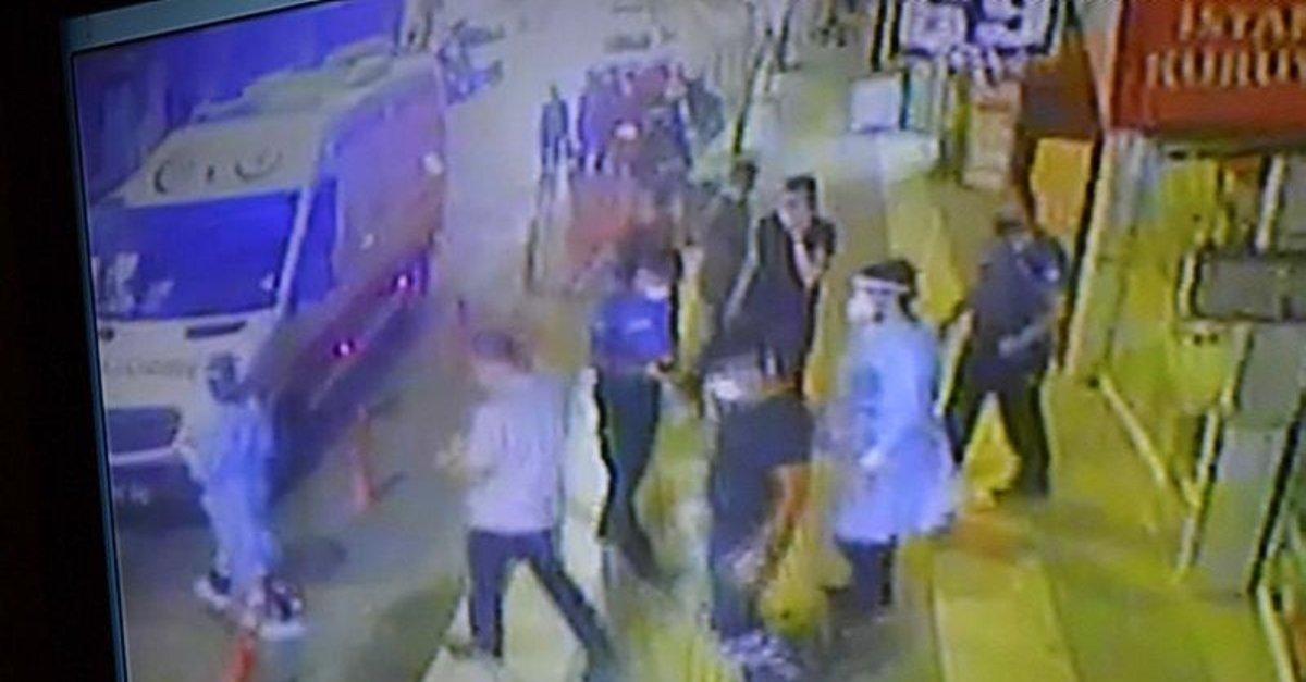 Koronavirüslü bakkal iş yerindepolise yakalandı; kamera kaydetti
