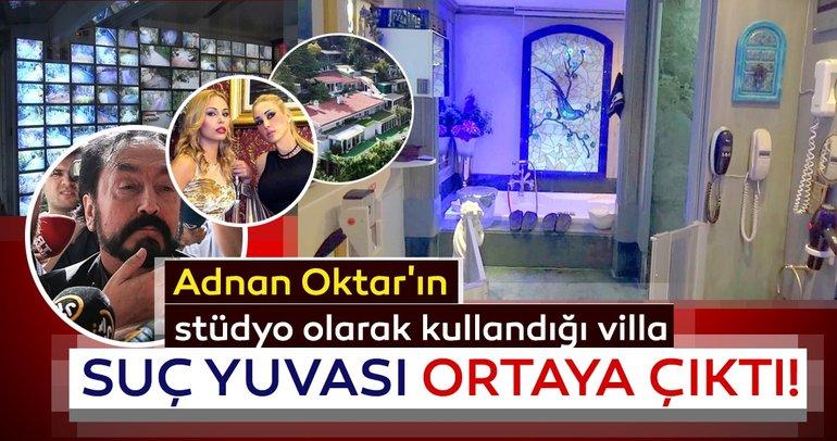 İşte Adnan Oktar'ın stüdyo olarak kullandığı villa ve içinden fotoğraflar