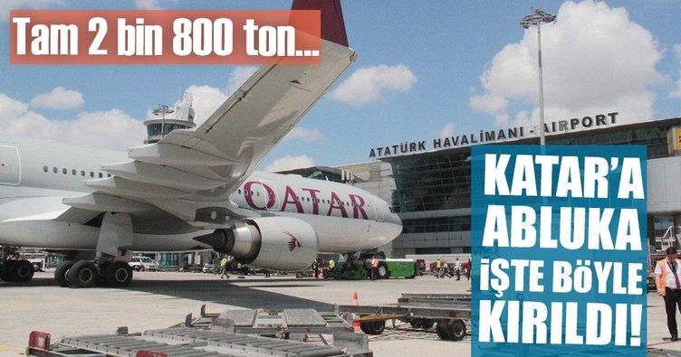 Türkiye-Katar hava köprüsü kuruldu! Abluka böyle kırıldı...