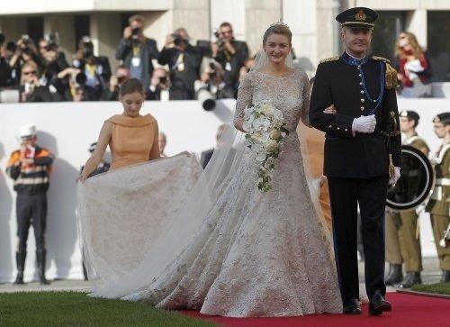 Lüksemburg Prensi Guillaume Belçika Kontesi Stephanie de Lannoy ile evlendi