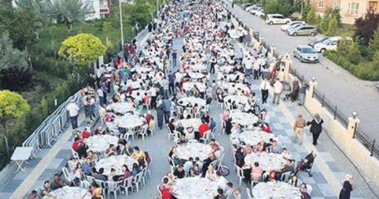 55 bin kişiyle iftar yapılacak