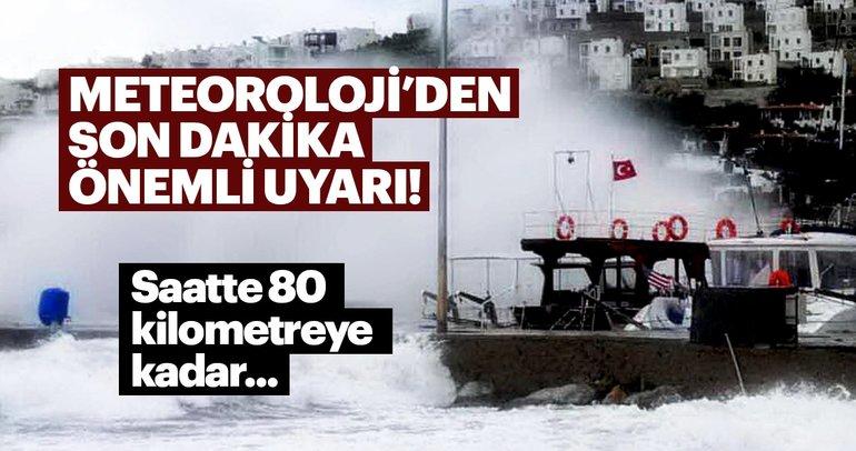 Meteoroloji'den kritik hava durumu uyarısı geldi! İstanbul'da yağış başladı!