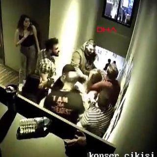 İstanbul Beşiktaş'ta eğlence mekanında kadınlara darp kamerada