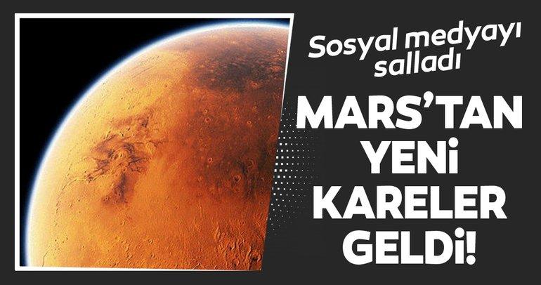 NASA'nın paylaşımı sosyal medyayı salladı! Mars'tan yeni kareler geldi!
