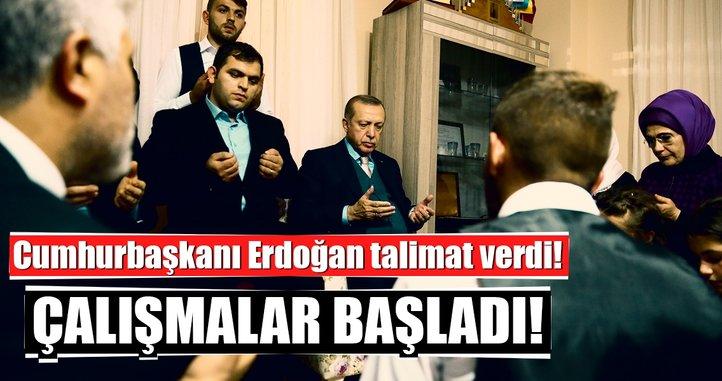 Cumhurbaşkanı Erdoğan talimat verdi! Eren Bülbül'ün ailesine yeni ev