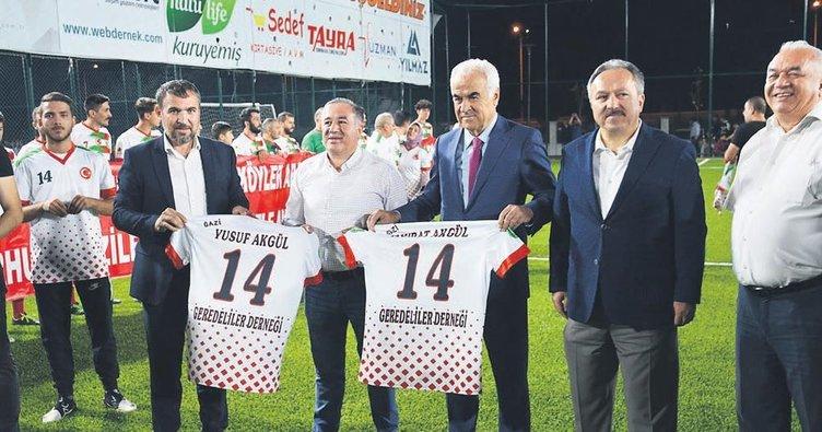 Turnuvada 15 Temmuz gazileri onurlandırıldı