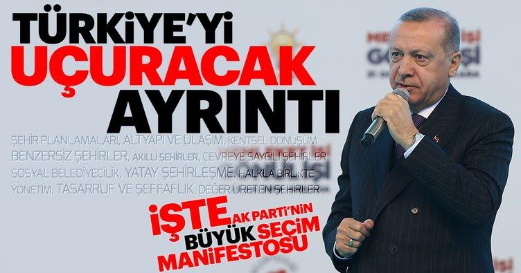 Başkan Erdoğan AK Parti manifestosunu açıkladı! İşte 11 maddelik seçim manifestosu