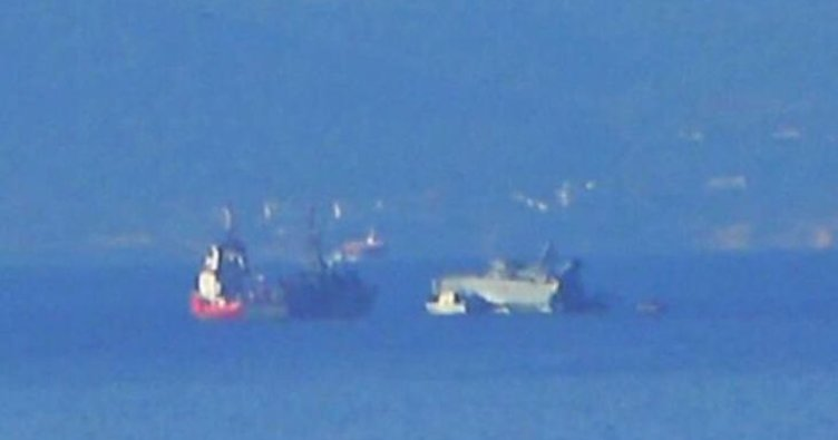 Son dakika haberi: Yunanistan'a büyük şok! Savaş gemisi battı | Canlı yayında Ege Denizi'ne gömüldü