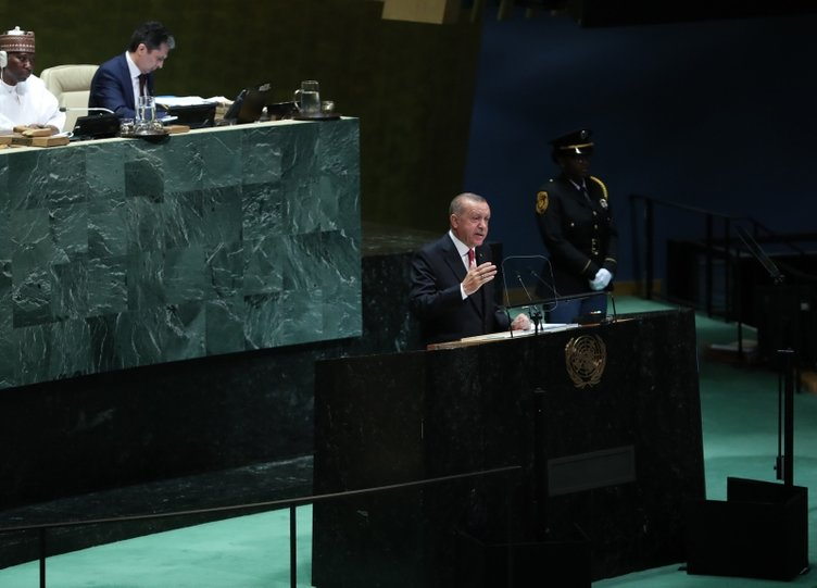 Cumhurbaşkanı Erdoğan'dan BM'de tarihi konuşma