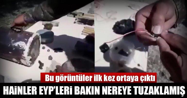 Son dakika: Afrin'de terör örgütünün EYP imalathanesi ortaya çıkarıldı