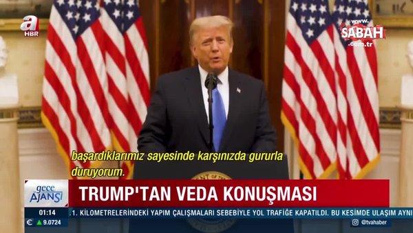 Son dakika: ABD diken üstünde! Trump veda konuşmasında geri dönebileceğini sinyallerini verdi | Video