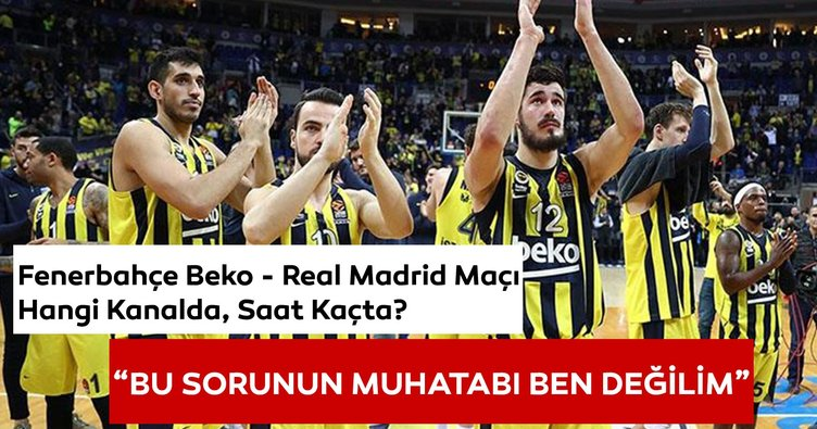 Fenerbahçe Real Madrid maçı hangi kanalda ve saat kaçta?