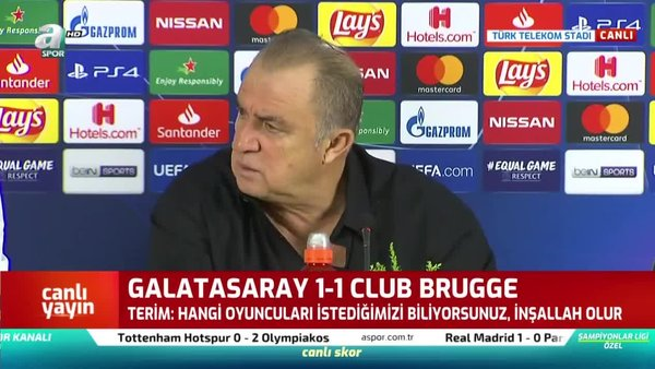 Fatih Terim'den Galatasaray - Brugge maçı sonrası açıklama