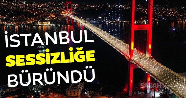 Sokağa çıkma yasağının ardından 'sessiz İstanbul'dan' manzaralar