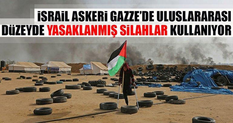 İsrail, Gazze'de göstericilere karşı yasaklı silah kullanıyor