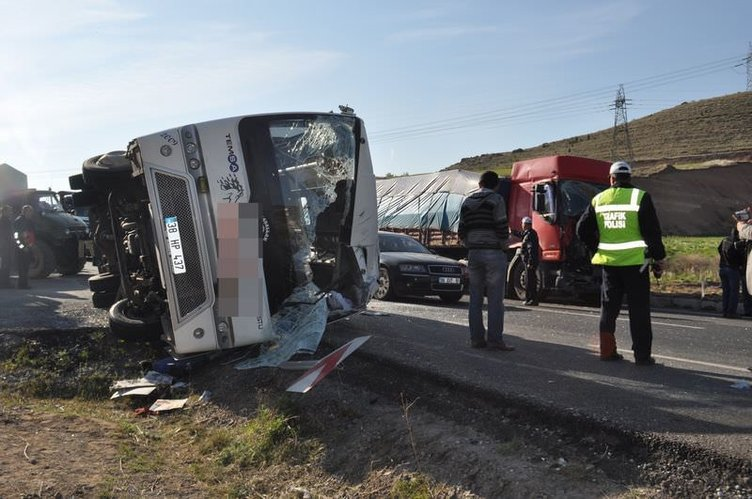Ankara yolunda zincirleme kaza