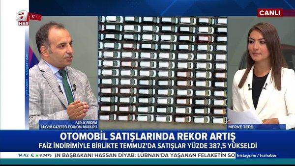 Türkiye'de otomotiv pazarı 2020 yılı Ocak - Temmuz döneminde yüzde 60,3 büyüdü    Video