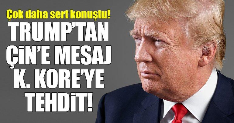 ABD Başkanı Trump'dan çok sert Kuzey Kore açıklaması!
