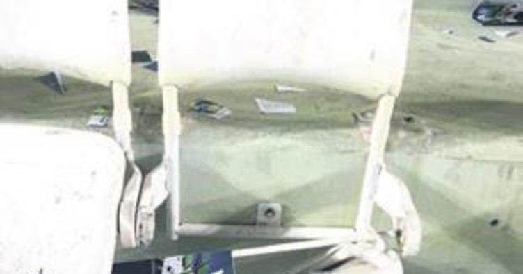 Konya'da 540 koltuk kırıldı!