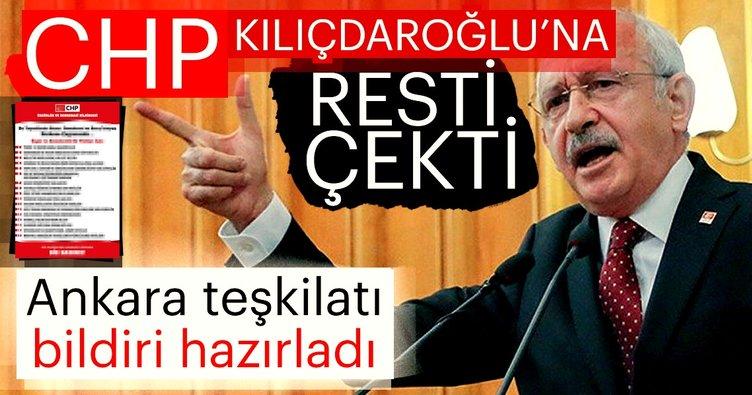 Ankara teşkilatı bildiri hazırladı