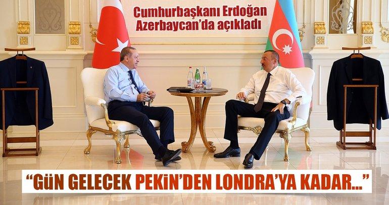 Cumhurbaşkanı Erdoğan'dan Azerbaycan'da önemli açıklamalar