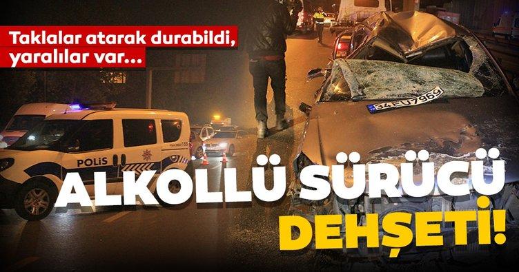 Vatan Caddesi'nde alkollü sürücü dehşeti: 2'si ağır, 3 yaralı!