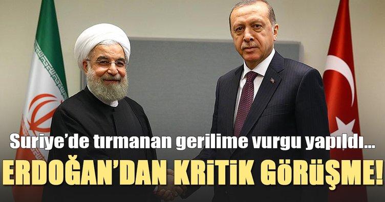 Son Dakika: Cumhurbaşkanı Erdoğan İranlı mevkidaşı ile görüştü
