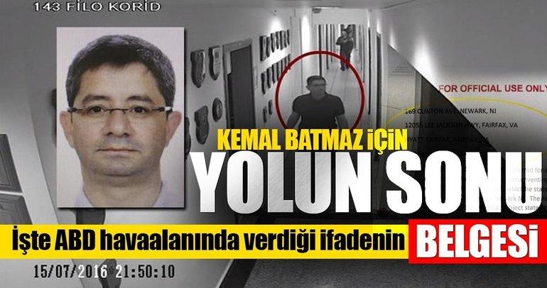 Darbeci Batmaz'ın yalanını ortaya çıkartan belge mahkemede