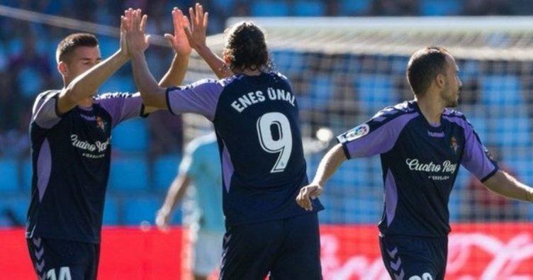 Enes Ünal gol attı, Real Valladolid puanı aldı