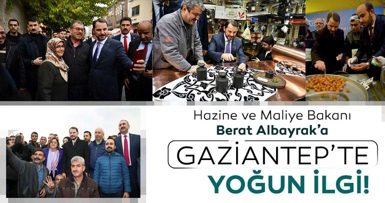 Bakan Albayrak'a Gaziantep'te yoğun ilgi