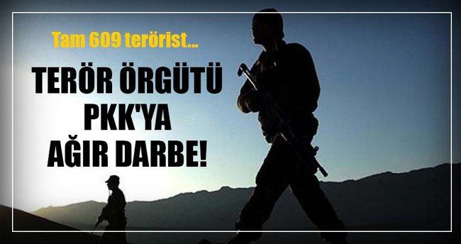 Terör örgütü PKK'ya ağır darbe!