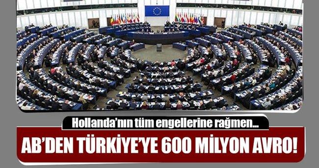 AB'den Türkiye'ye 600 milyon avro