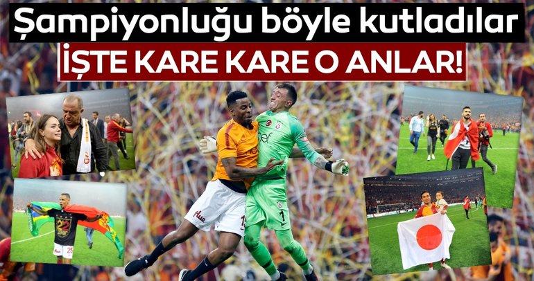 İşte kare kare Galatasaray'ın şampiyonluk coşkusu