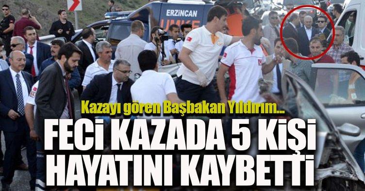 Erzincan'da TIR ile otomobil çarpıştı: 5 ölü