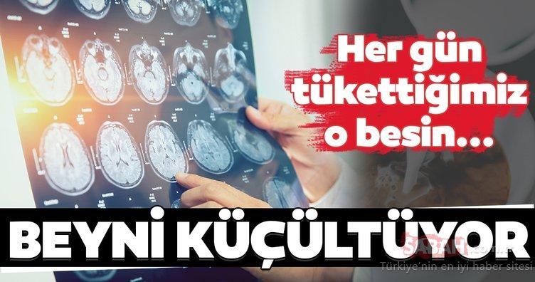 Beyni küçülten besin...