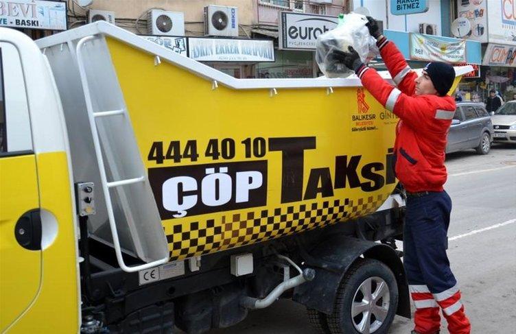 Çöp toplayan taksiler