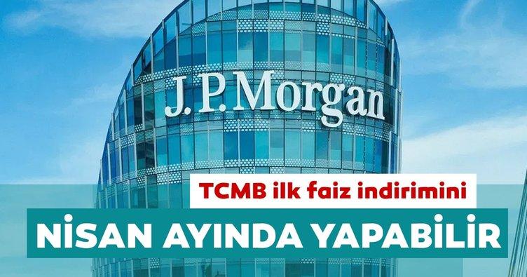 JP Morgan: TCMB ilk faiz indirimini Nisan ayında yapabilir