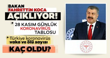Son dakika haberi: Türkiye'de coronavirüs vaka ve ölü sayısı kaç oldu? Sağlık Bakanlığı tablosu ile 28 Kasım Cumartesi İstanbul, Ankara, İzmir ve il il corona virüsü vaka sayısı son durum!