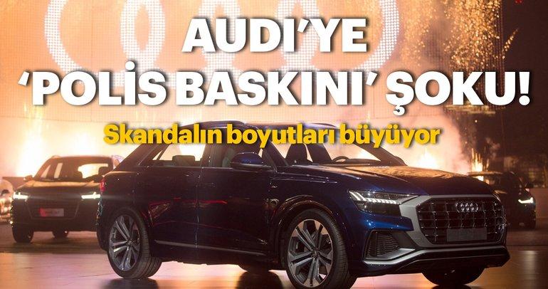Audi yöneticisinin evine polis baskın yaptı