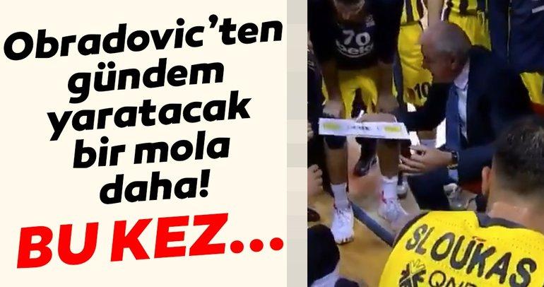 Fenerbahçe Beko başantrenörü Zeljko Obradoviç'ten gündem yaratacak bir mola daha! Bu kez...