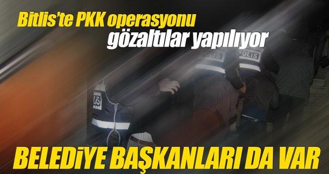 Bitlis'te PKK operasyonu: Belediye Başkanları gözaltında