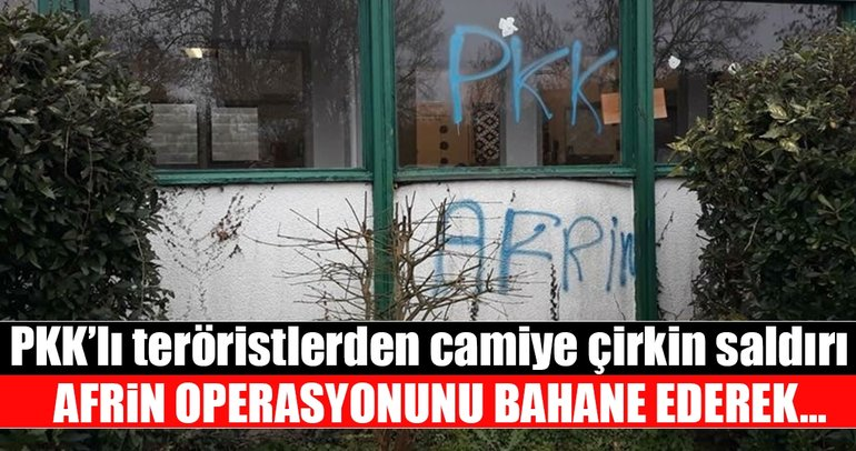 PKK'lılar Fransa'da camiye saldırdı!